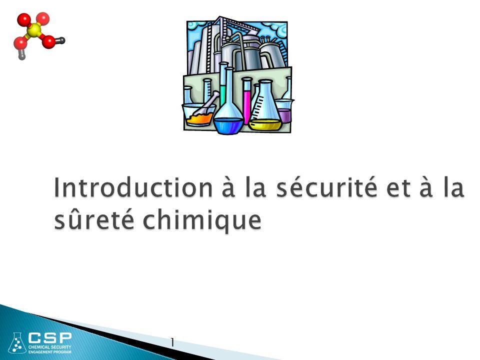 Introduction à la sécurité et à la sûreté chimique