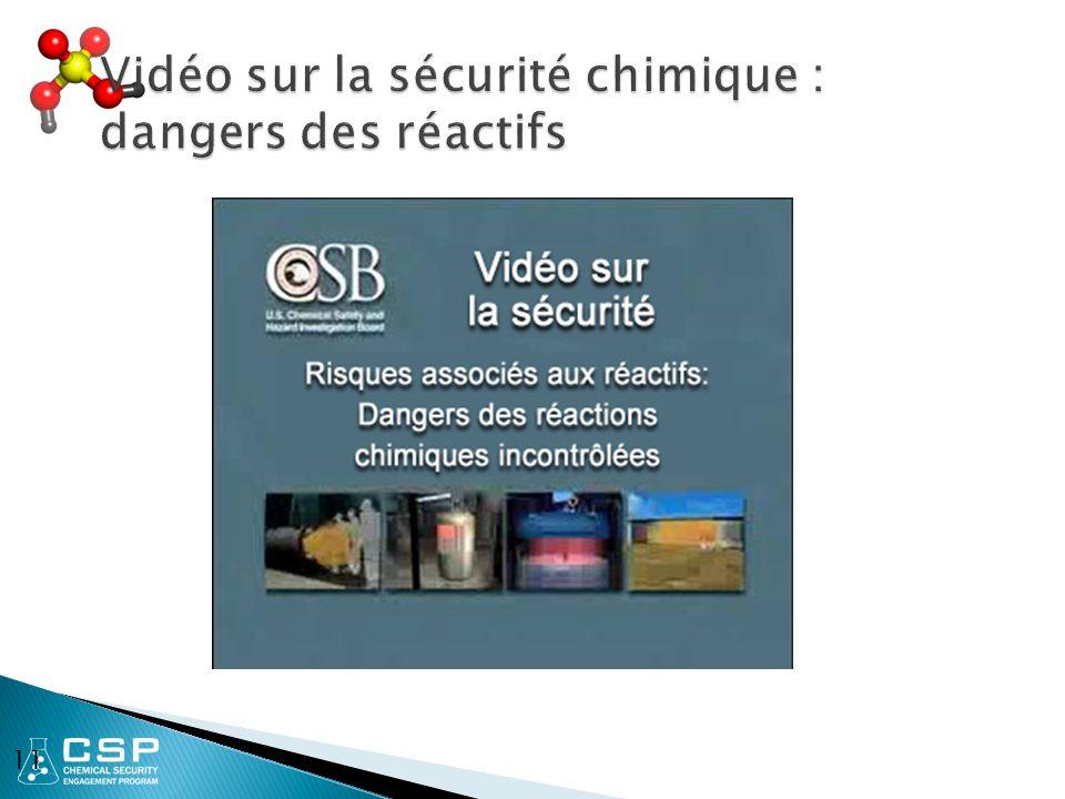 Vidéo sur la sécurité chimique : dangers des réactifs