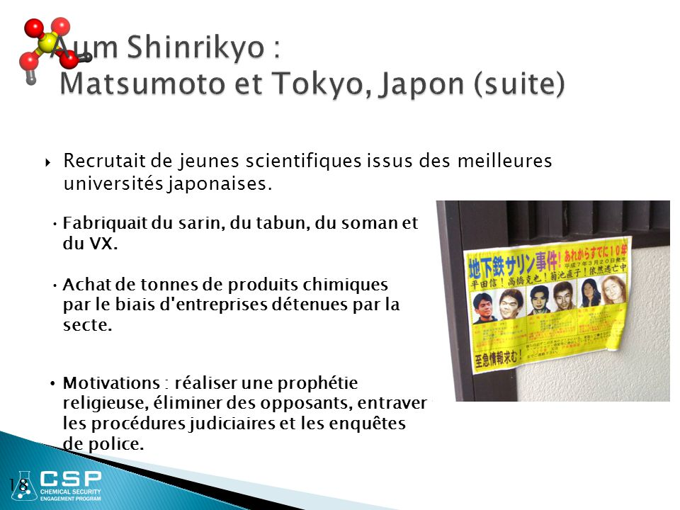Aum Shinrikyo : Matsumoto et Tokyo, Japon (suite)