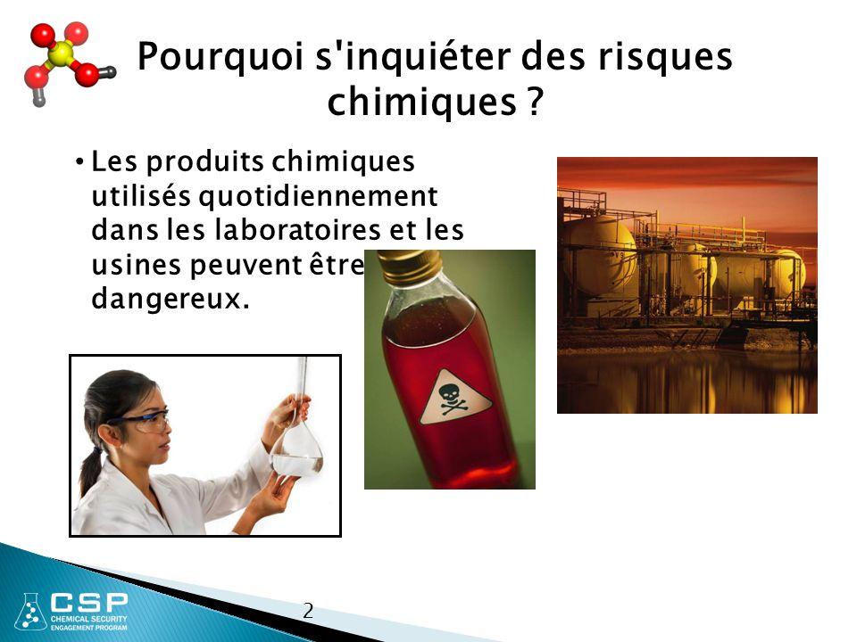 Pourquoi s inquiéter des risques chimiques