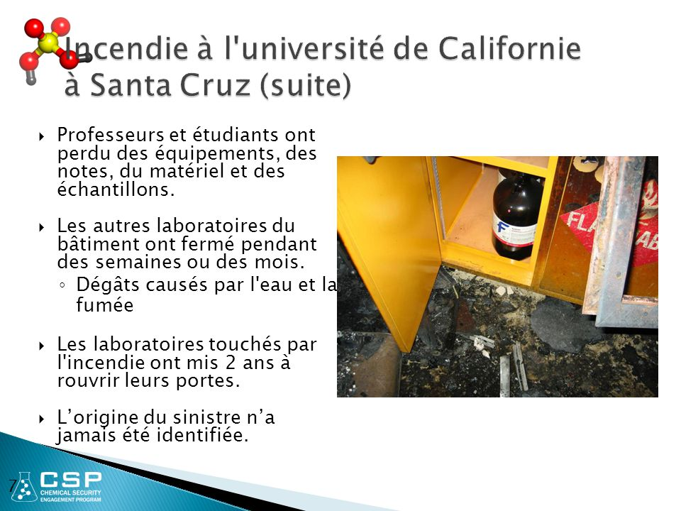 Incendie à l université de Californie à Santa Cruz (suite)