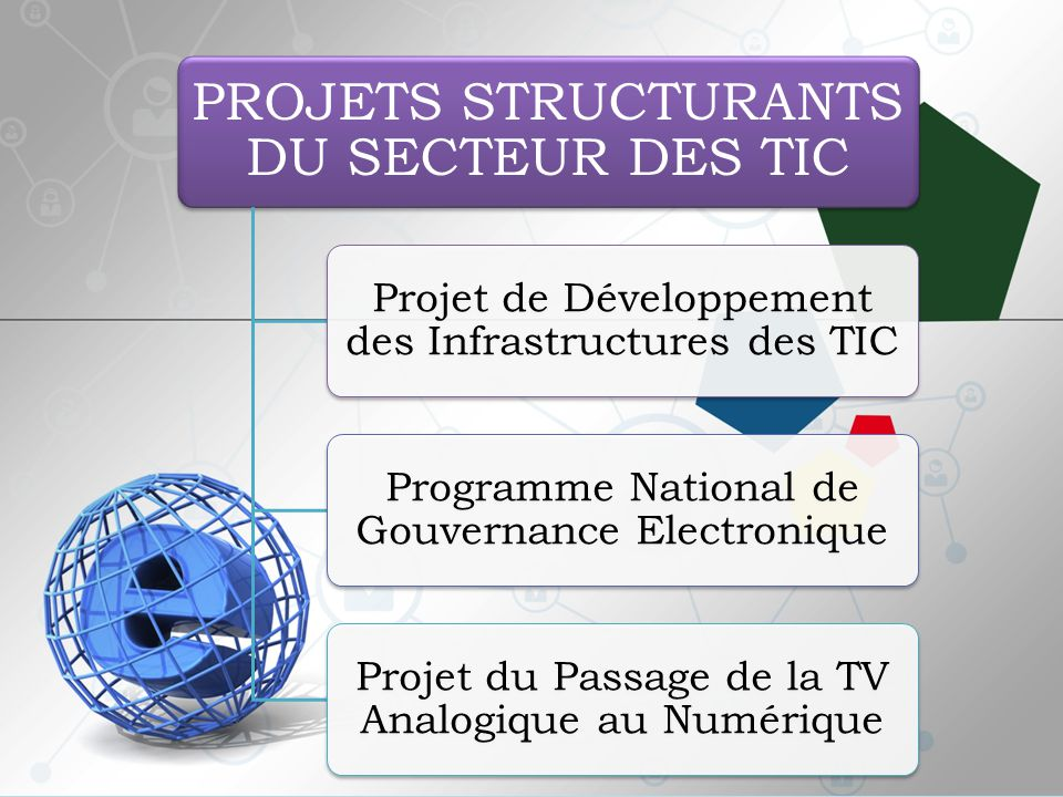 PROJETS STRUCTURANTS DU SECTEUR DES TIC