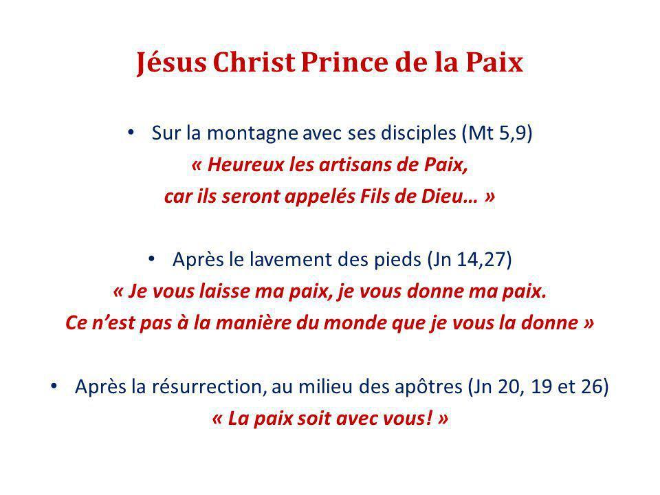 Jésus Christ Prince de la Paix