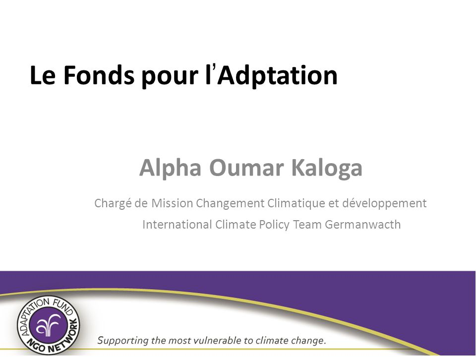 Le Fonds pour l'Adptation