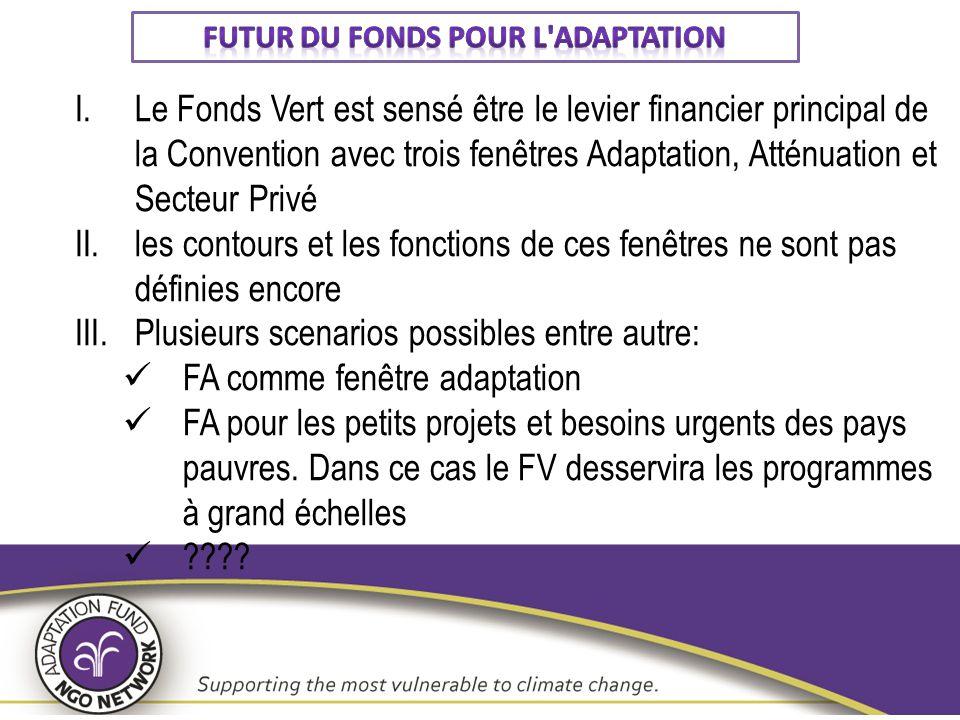 Futur du FoNDs pour l adaptation