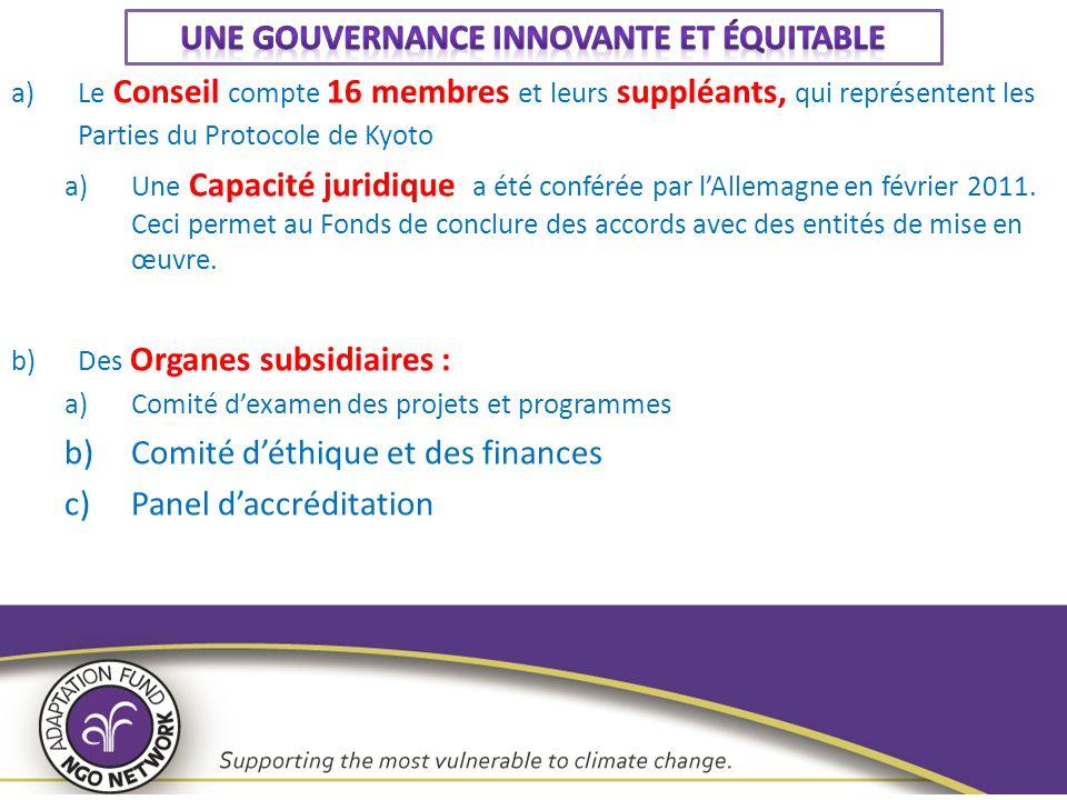 Une gouvernance innovante et équitable