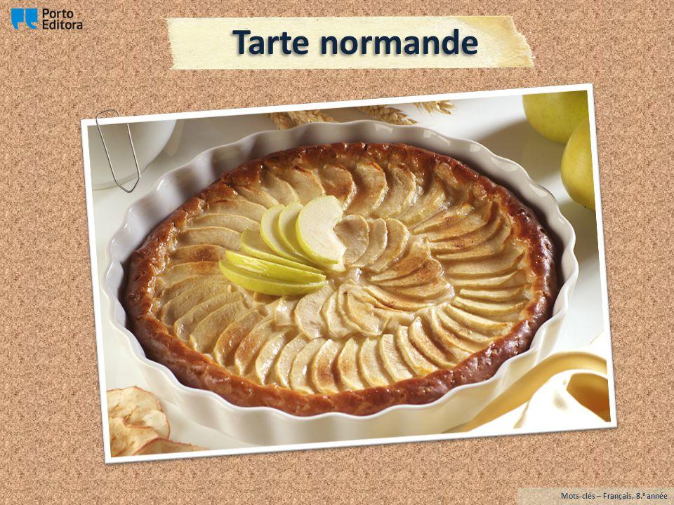 Tarte normande Mots-clés – Français, 8.e année