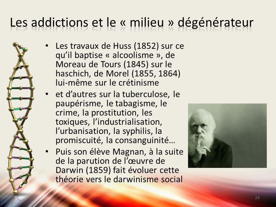 Les addictions et le « milieu » dégénérateur