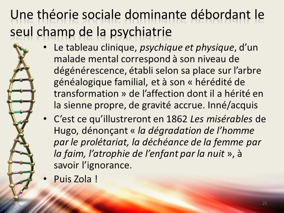 Une théorie sociale dominante débordant le seul champ de la psychiatrie