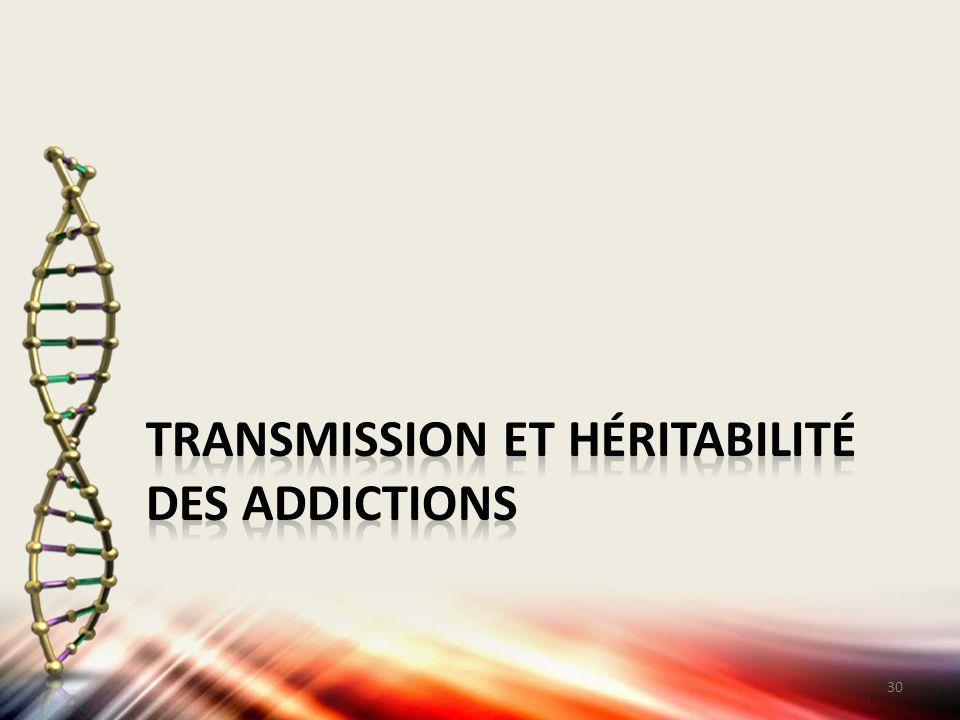 Transmission et héritabilité des addictions