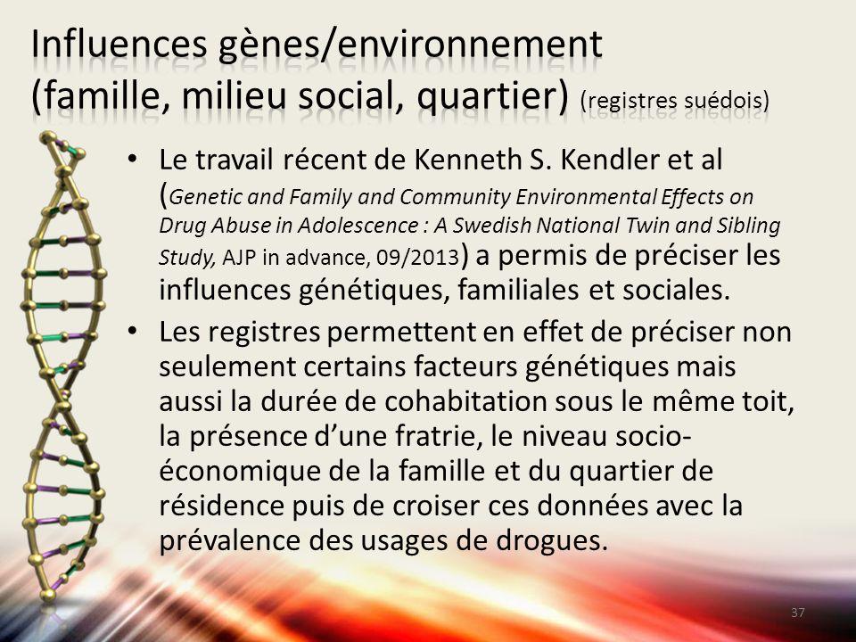 Influences gènes/environnement (famille, milieu social, quartier) (registres suédois)
