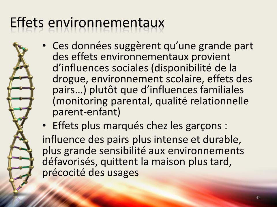 Effets environnementaux