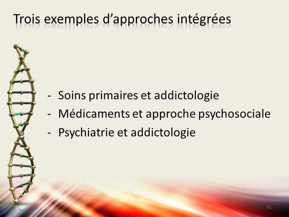 Trois exemples d'approches intégrées
