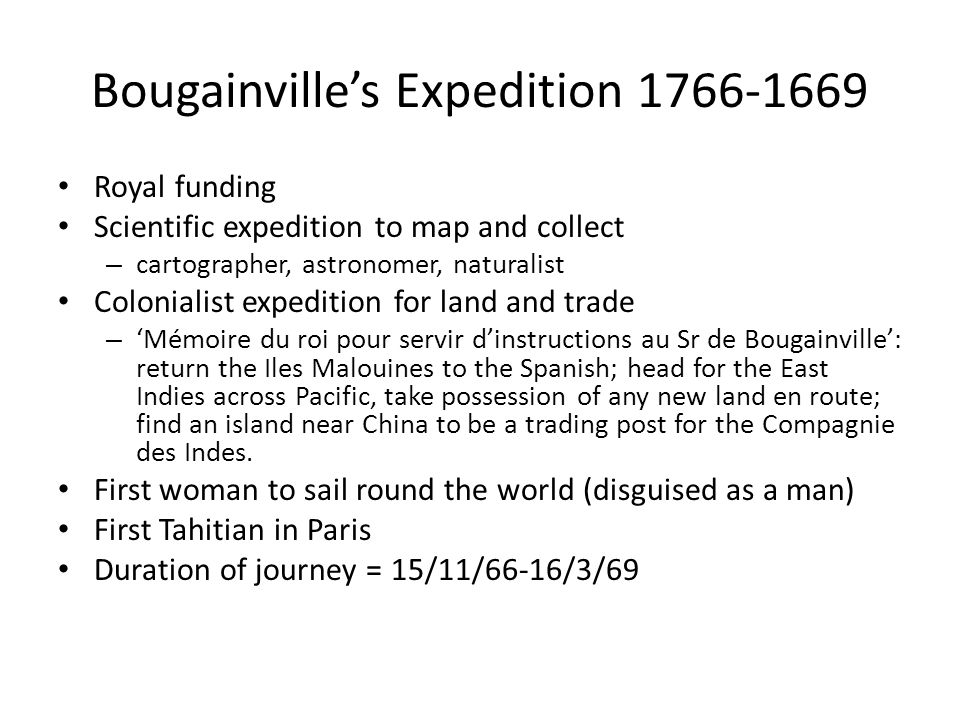 Bougainville's Expedition 1766-1669