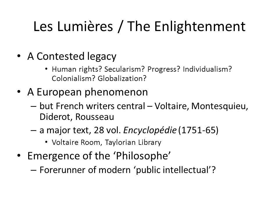 Les Lumières / The Enlightenment