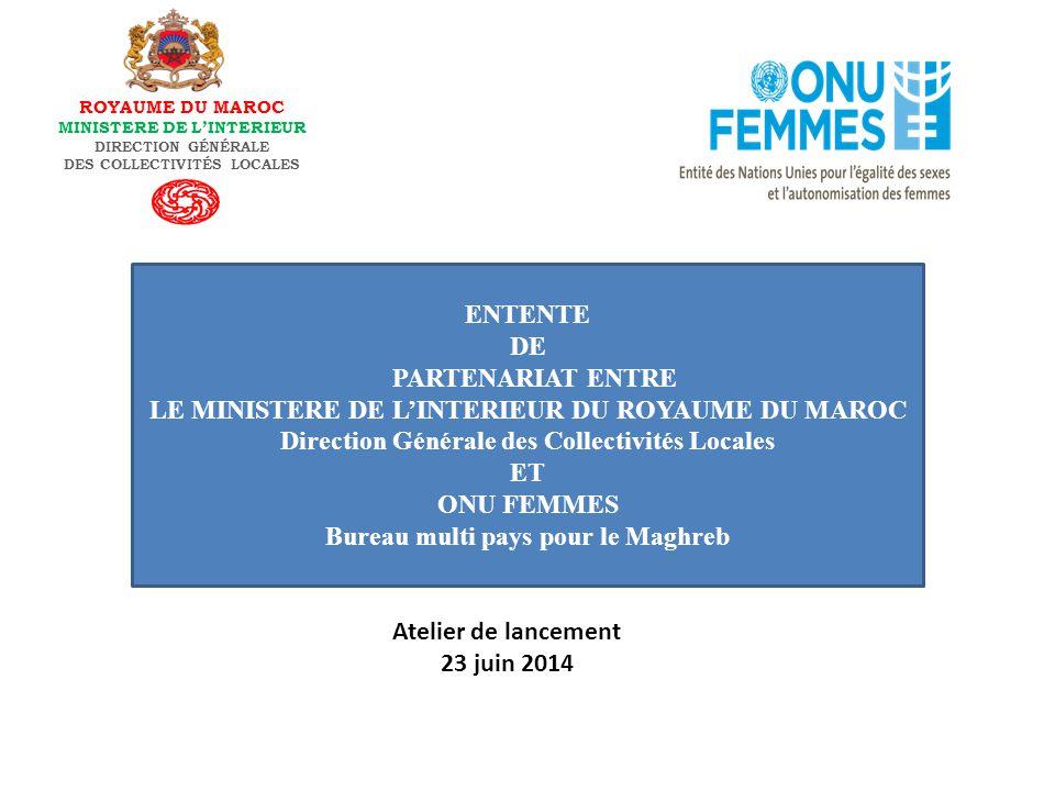 DES COLLECTIVITÉS LOCALES Bureau multi pays pour le Maghreb