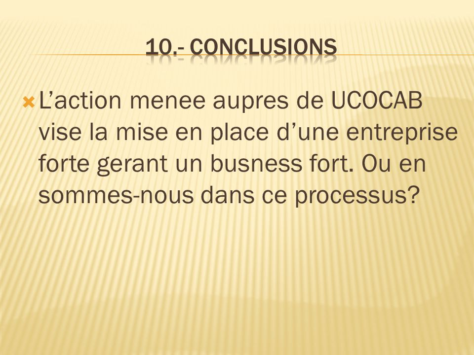 10.- Conclusions
