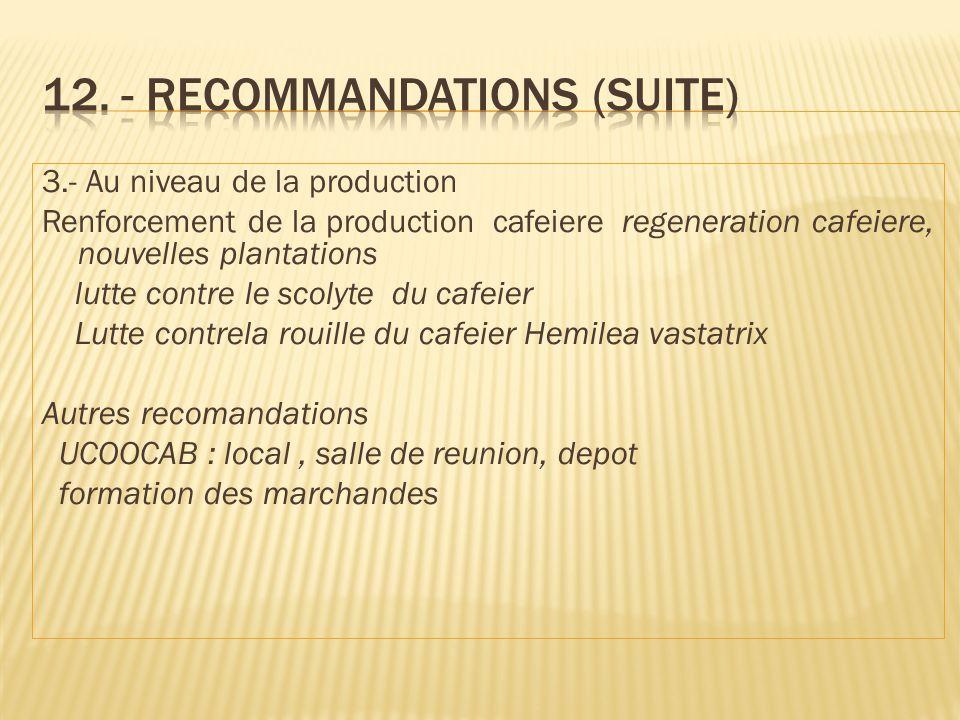 12. - Recommandations (suite)