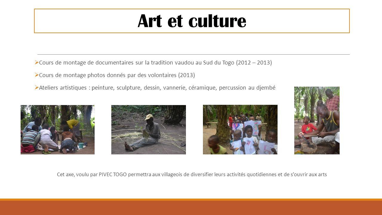 Art et culture Cours de montage de documentaires sur la tradition vaudou au Sud du Togo (2012 – 2013)