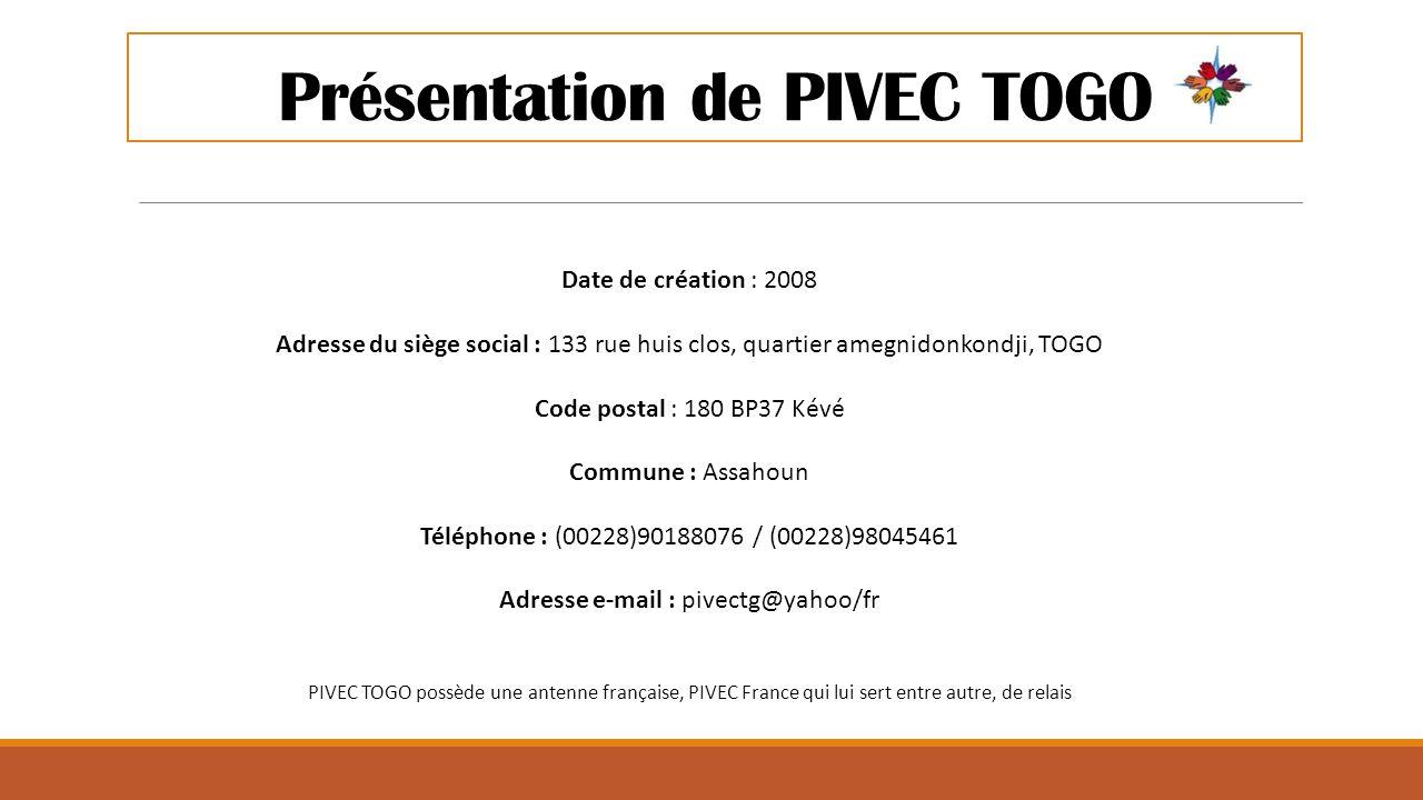 Présentation de PIVEC TOGO