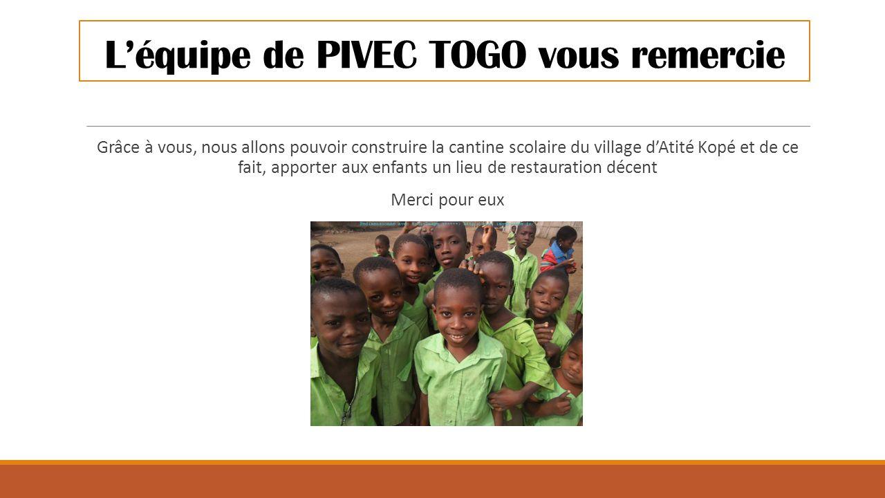 L'équipe de PIVEC TOGO vous remercie