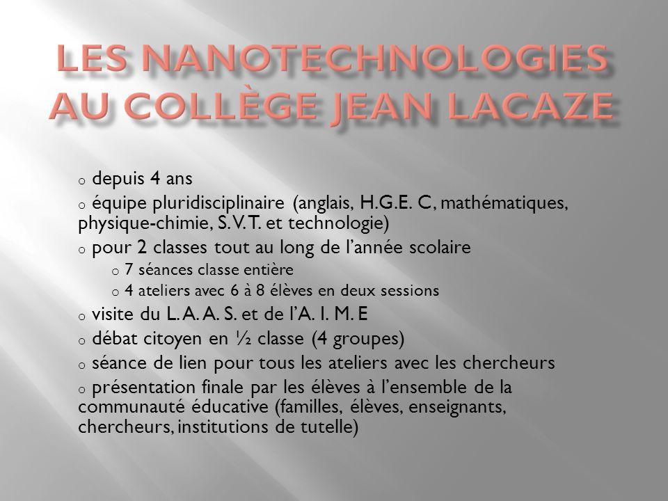 Les nanotechnologies au collège Jean Lacaze