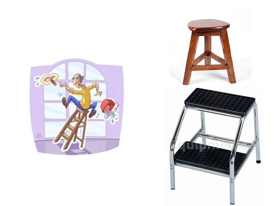 Eviter de monter sur une échelle quand vous êtes seul(e), un tabouret ou marchepied …