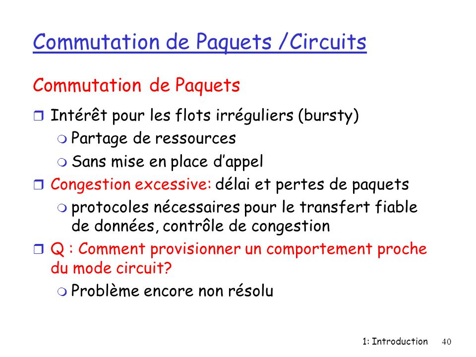 Commutation de Paquets /Circuits
