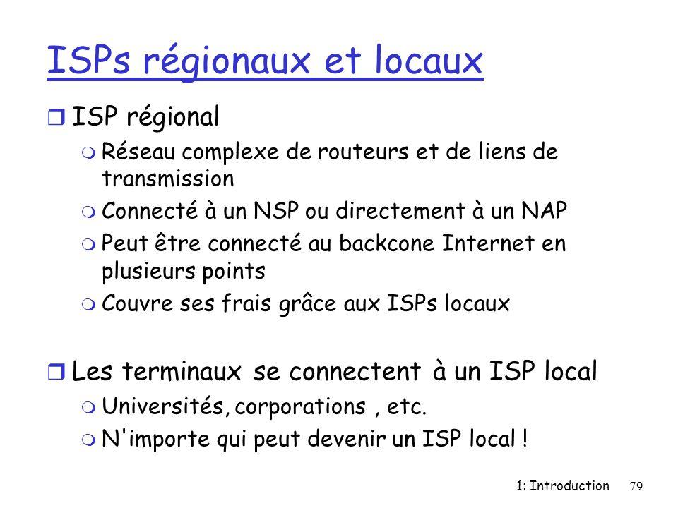 ISPs régionaux et locaux