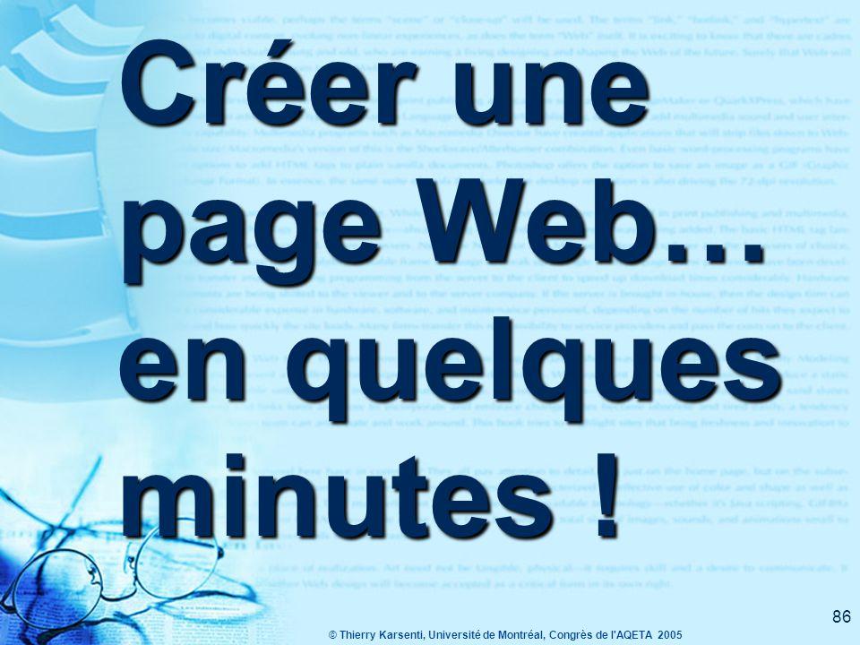 Créer une page Web… en quelques minutes !