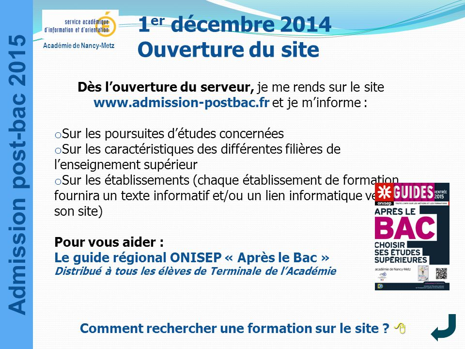 1er décembre 2014 Ouverture du site