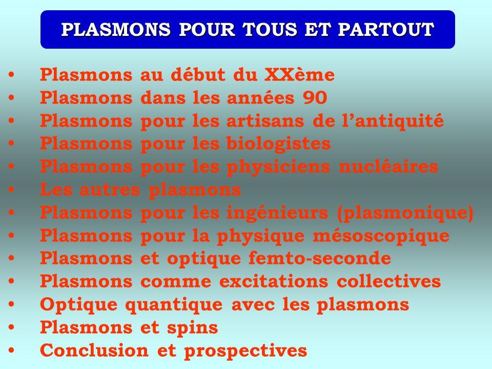 PLASMONS POUR TOUS ET PARTOUT