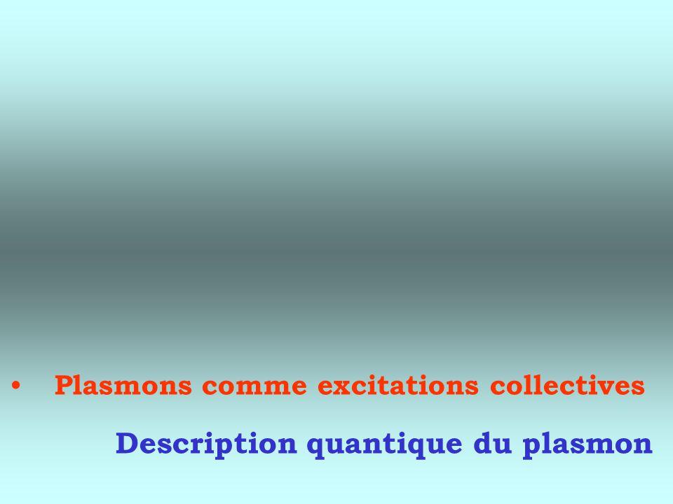 Description quantique du plasmon