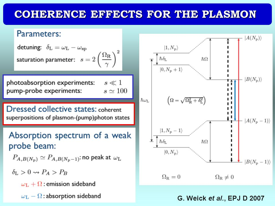 COHERENCE EFFECTS FOR THE PLASMON