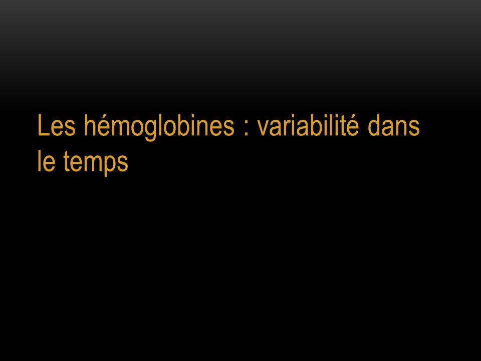 Les hémoglobines : variabilité dans le temps