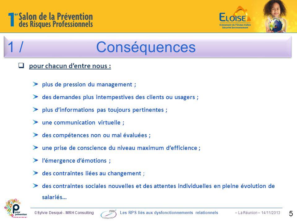 1 / Conséquences pour chacun d'entre nous : 5