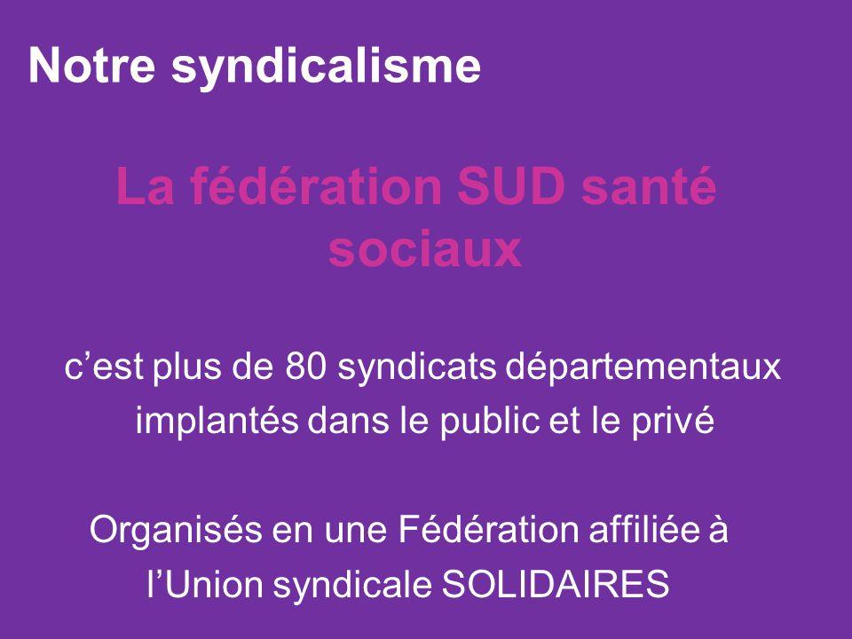 La fédération SUD santé sociaux