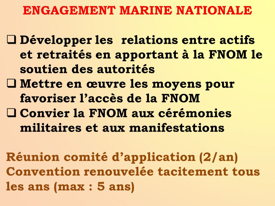 ENGAGEMENT MARINE NATIONALE