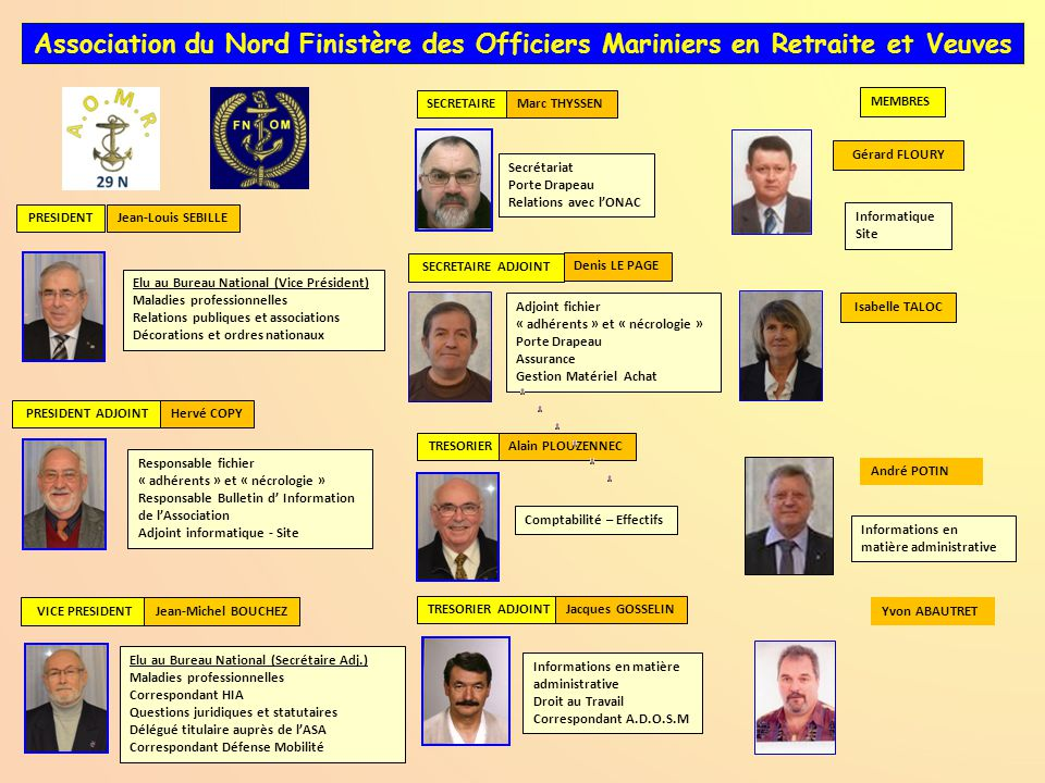 Association du Nord Finistère des Officiers Mariniers en Retraite et Veuves