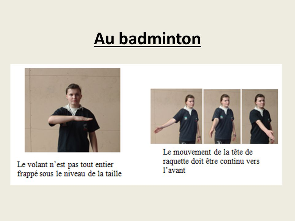 Au badminton