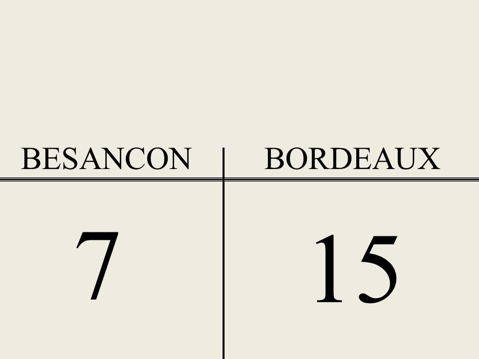 BESANCON BORDEAUX 7 15