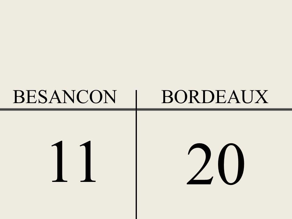 BESANCON BORDEAUX 11 20