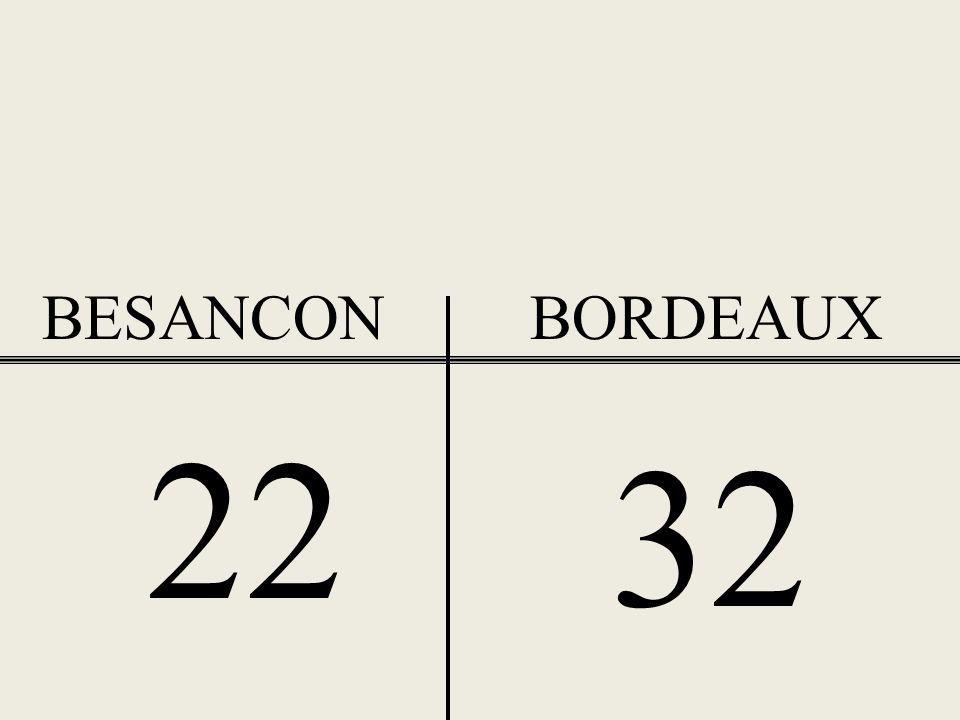BESANCON BORDEAUX 22 32