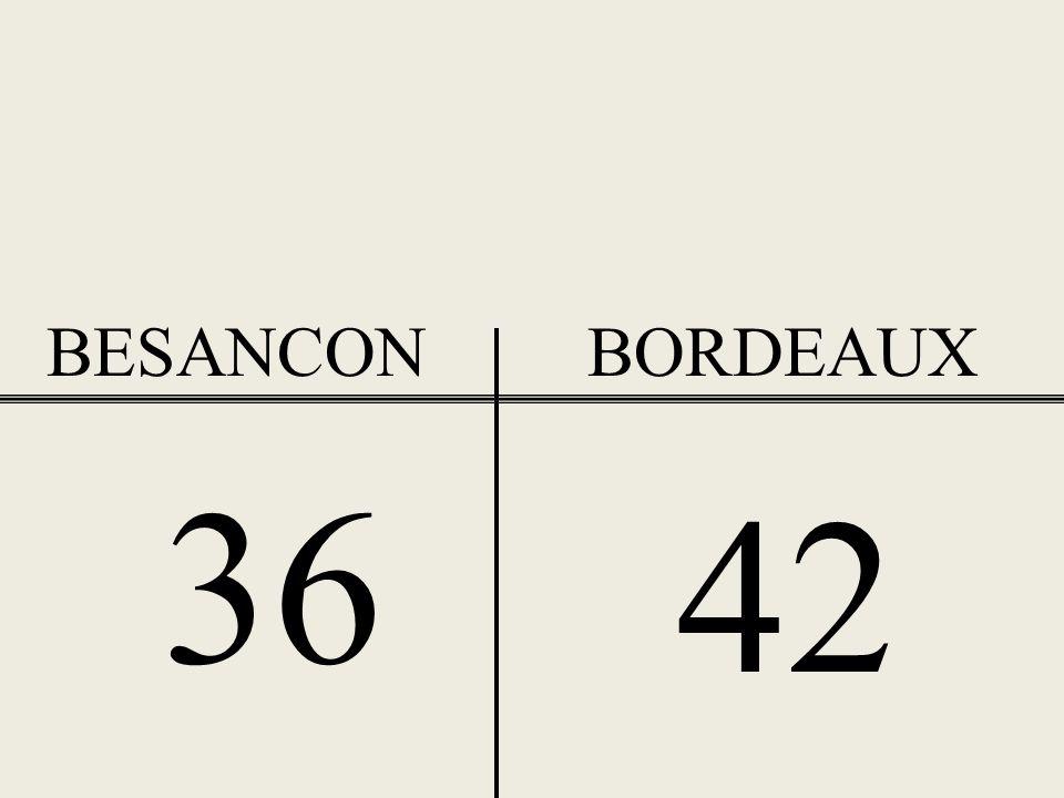 BESANCON BORDEAUX 36 42