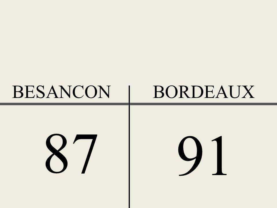 BESANCON BORDEAUX 87 91