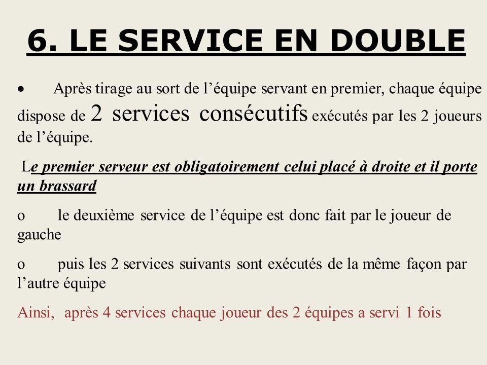 6. LE SERVICE EN DOUBLE