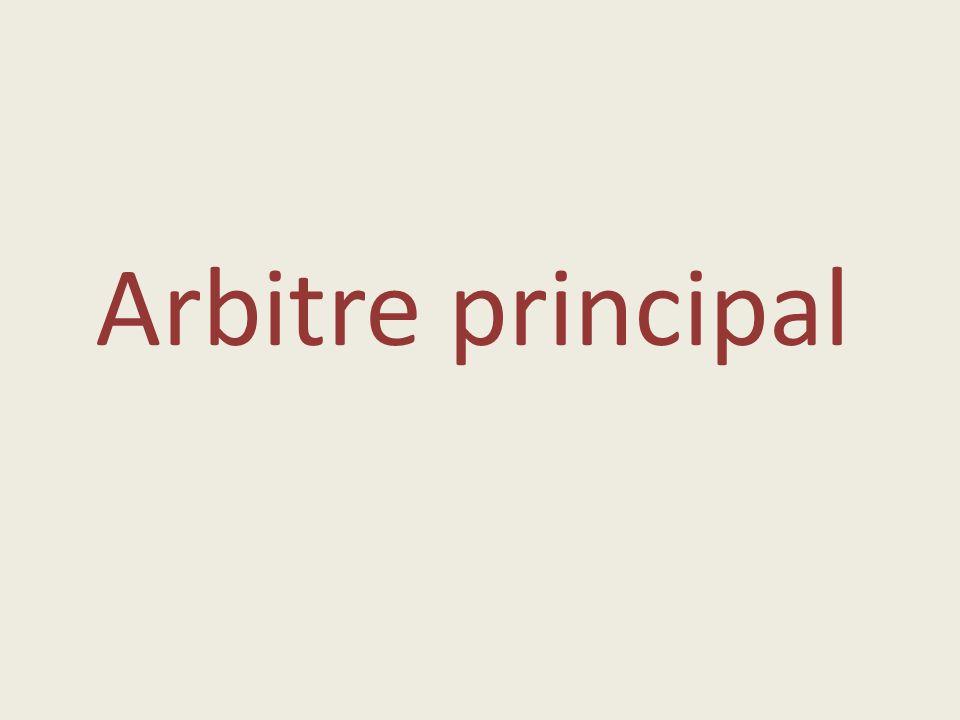 Arbitre principal