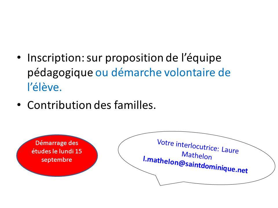 Contribution des familles.