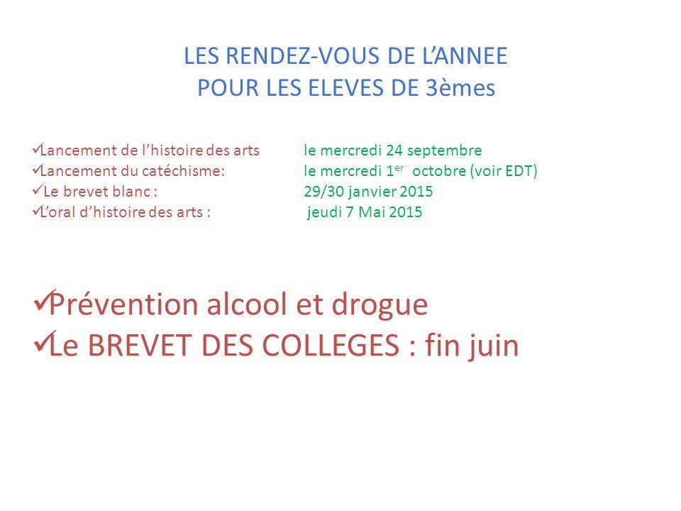 LES RENDEZ-VOUS DE L'ANNEE