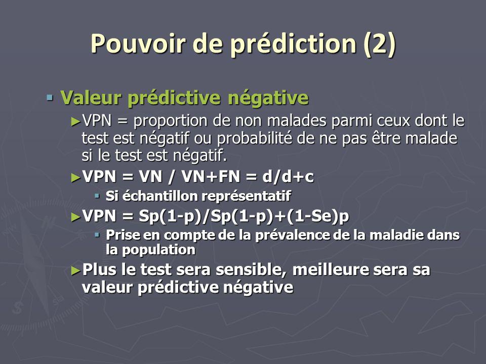 Pouvoir de prédiction (2)